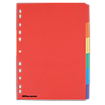 Intercalaires colorés inscriptibles Office Depot 6 Touches A4 175 g