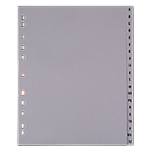 Intercalaires Office Depot Alphabétique A4 extra large Gris 20 intercalaires Perforé PP A   Z 20 Feuilles