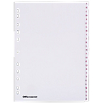 Intercalaires Office Depot A4 Blanc 26 intercalaires Perforé PVC A   Z