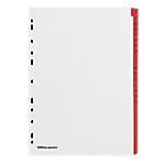 Intercalaires Office Depot A4 Blanc 26 intercalaires Perforé Carton blanc avec onglet rouge renforcé (Mylar) A   Z