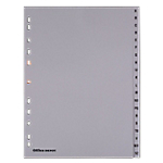 Intercalaires Office Depot Alphabétique A4 Gris 20 intercalaires Perforé PP A   Z 20 Feuilles