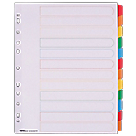 Intercalaires Office Depot A4 extra large 12 intercalaires Blanc