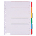 Intercalaires Office Depot A4 extra large 6 intercalaires Blanc
