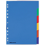 Intercalaires Office Depot A4 Coloré 6 intercalaires Perforé PP extra fort Vierge