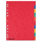 Intercalaires Office Depot A4 6 couleurs 10 intercalaires Perforé Carton 225 g