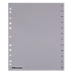 Intercalaires Office Depot A4 extra large Gris 12 intercalaires Perforé PP Jan   Dec