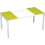 Bureau droit 4 pieds Paperflow EasyOffice Vert, blanc 1600 x 800 x 750 mm