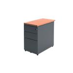 Caisson hauteur bureau Optimal 420 x 800 x 720 mm Imitation poirier, anthracite