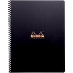 Cahier petits carreaux reliure intégrale Polypro Rhodia Orange, noir A4+ Perforé 160 Pages   80 Feuilles