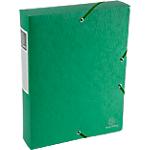 Boites de classement à élastique Exacompta Carte lustrée véritable 6 x 33 x 32 cm Vert
