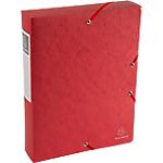Boites de classement à élastique Exacompta Carte lustrée véritable 6 x 33 x 32 cm Rouge