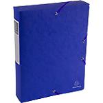 Boites de classement à élastique Exacompta Carte lustrée véritable 6 x 33 x 32 cm Bleu