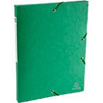 Boites de classement à élastique Exacompta Carte lustrée véritable 2,5 x 33 x 32 cm Vert