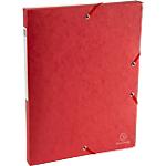 Boites de classement à élastique Exacompta Carte lustrée véritable 2,5 x 33 x 32 cm Rouge