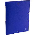 Boites de classement à élastique Exacompta Carte lustrée véritable 2,5 x 33 x 32 cm Bleu