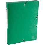 Boites de classement à élastique Exacompta Carte lustrée véritable 4 x 33 x 32 cm Vert