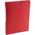 Boites de classement à élastique Exacompta Carte lustrée véritable 4 x 33 x 32 cm Rouge