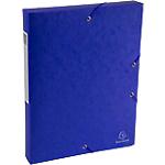 Boites de classement à élastique Exacompta Carte lustrée véritable 4 x 33 x 32 cm Bleu