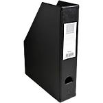 Porte revues pliables   Exacompta   Dos 7 cm   PVC noir