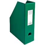 Porte revues pliables   Exacompta   Dos 10 cm   PVC vert