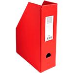 Porte revues pliables   Exacompta   Dos 10 cm   PVC rouge