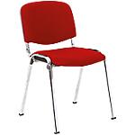 Chaise de réunion   Niceday   Chromé & Rouge