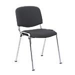 Chaise de réunion   Niceday   Chromé & Noir
