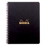 Cahier ligné reliure intégrale Polypro Rhodia Rhodiactive NoteBook A5+ Noir 160 Pages   80 Feuilles