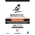 Bloc Dessin Clairefontaine Bristol A4 205 g