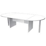 Table de réunion Quadra 220 (L) x 110 (P) x 72 (H) cm Blanc
