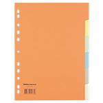Intercalaires colorés inscriptibles Office Depot A4 6 couleurs 6 intercalaires Perforé Carton Manilla Vierge