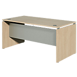 Bureau droit Dual 1600 x 800 x 730 mm Imitation chêne, gris aluminium