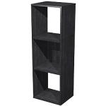 Bibliothèque modulaire Color 3 cases 36 x 29 x 10,4 cm Imitation frêne noir