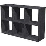 Bibliothèque modulaire Color 6 cases 70 x 29 x 10,4 cm Imitation frêne noir
