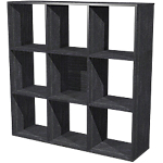 Bibliothèque modulaire Color 9 cases 1040 x 290 x 1040 mm Imitation frêne noir