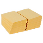 Notes adhésives Office Depot 102 x 76 mm Jaune pastel   12 Unités de 100 Feuilles