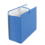 Chemise à sangle avec rabat Office Depot Carton Bleu