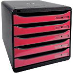 Module de tiroirs Exacompta Big Box Plus 27,8 x 34,7 x 27,1 cm Noir, framboise