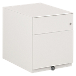 Caisson mobile 2 tiroirs Gautier Office Sunday 420 x 570 x 500 mm Blanc