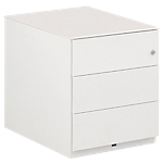 Caisson mobile 3 tiroirs Gautier Office Sunday 420 x 570 x 500 mm Blanc
