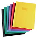 Protège cahier Calligraphe Calligraphe Grain de cuir avec porte étiquette A4+ Rouge
