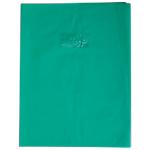 Protège cahier Calligraphe Calligraphe Grain de cuir avec porte étiquette A4+ Vert