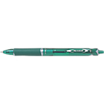 Stylo bille rétractable Pilot Acroball 0.4 mm Vert