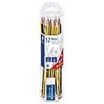 Crayons à papier + 1 mini gomme offerte STAEDTLER Graphite NORIS   12 Unités