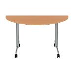 Table de réunion abattante 1400 x 700 x 740 mm Imitation Hêtre