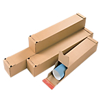 Tubes postaux carrés Carton 43 (H) x 10,8 (l) x 10,8 (P) cm Marron   10 Unités