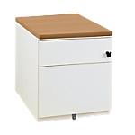 Caisson mobile 2 tiroirs Gautier Office Sunday 420 x 570 x 500 mm Imitation chêne