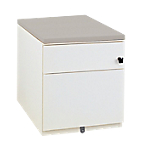 Caisson mobile 2 tiroirs Gautier Office Sunday 420 x 570 x 500 mm Blanc, gris