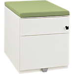 Caisson mobile 2 tiroirs Gautier Office Sunday 420 x 570 x 500 mm Blanc, vert