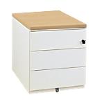 Caisson mobile 3 tiroirs Gautier Office Sunday 420 x 570 x 500 mm Imitation chêne